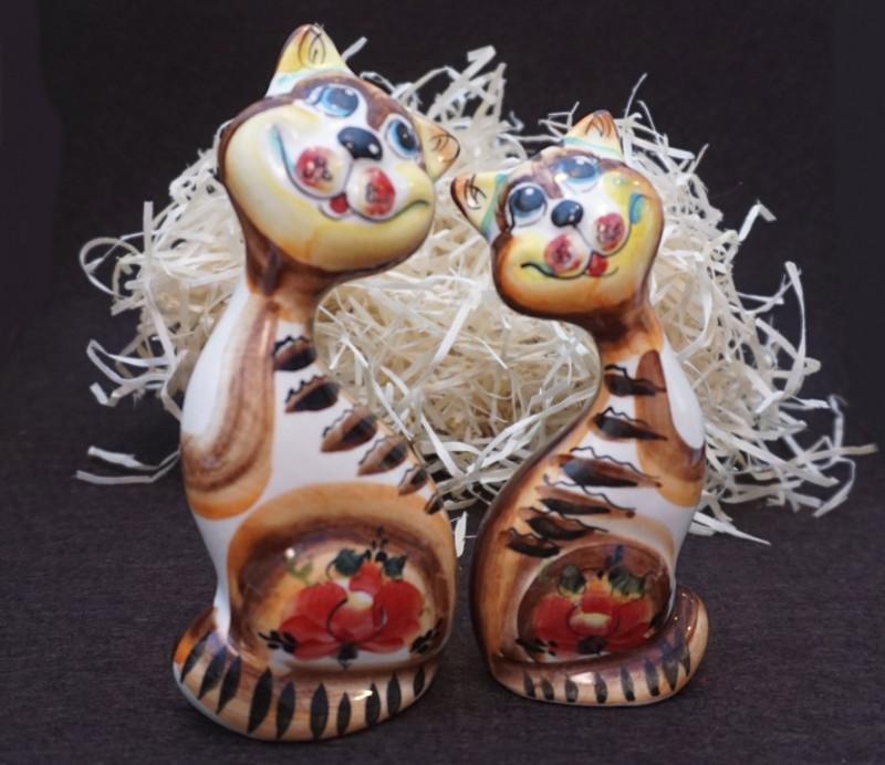 Статуэтки Пара котов из керамики