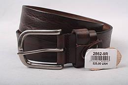 Ремень мужской джинсовый, цвет коричневый, натуральная кожа
