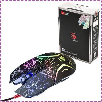 Игровая мышка A4Tech Bloody N50 black, USB, с подсветкой геймерская мышь а4теч блади блуди для компьютера, пк, ноутбука, фото 2