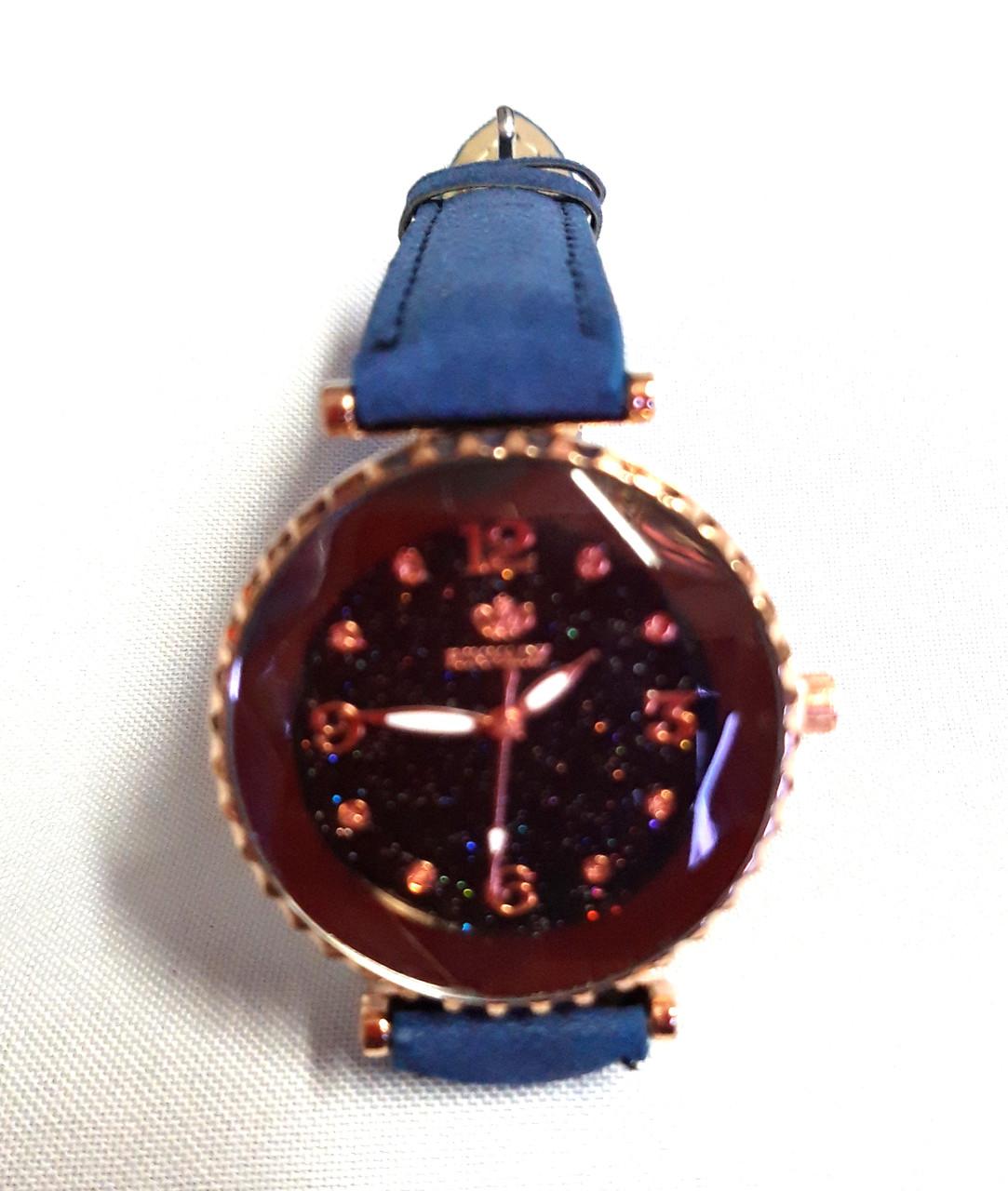 Женские часы, кварцевые синие