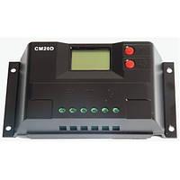 Контроллер 20А 12В/24В с дисплеем (Модель-CM20D), JUTA