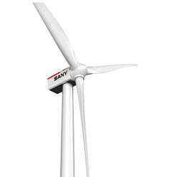 Ветровая турбина мощность: 2,5 МВт, диаметр ротора: 121м, вес ротора: 65.6т