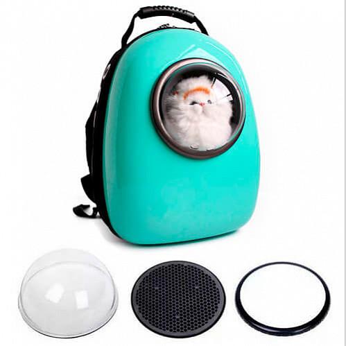 Переноска Animall Cosmo Pet Енімалл Космо Пет Космічний рюкзак для тварин з віконцем м'ятний