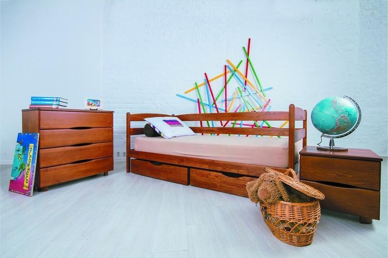 """Ліжко односпальне Олімп """"Маріо з ящиками"""" (70*140)"""