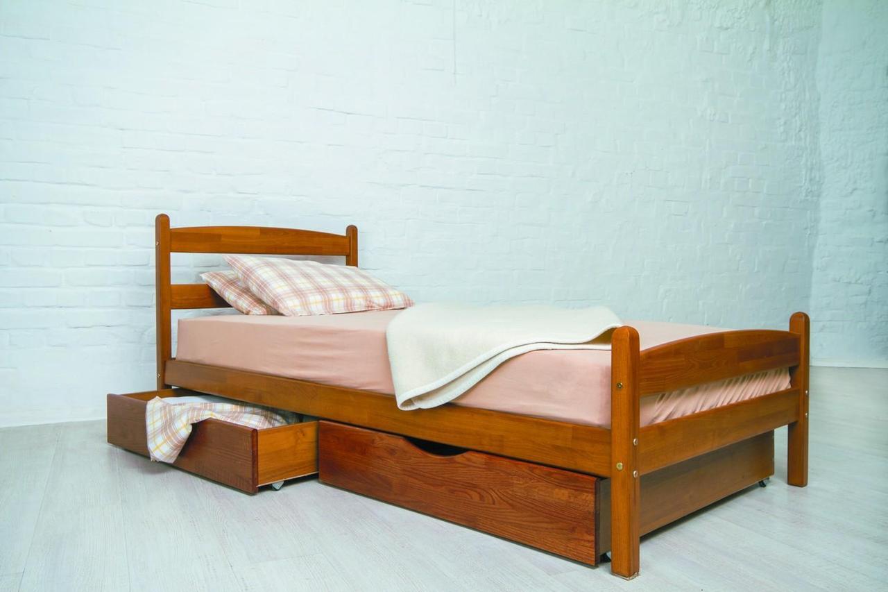"""Ліжко односпальне Олімп """"Ліка з ящиками"""" (90*190)"""