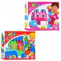 Детский конструктор JDLT Кубики (6010-1), конструктор с большими блоками, 25 элементов