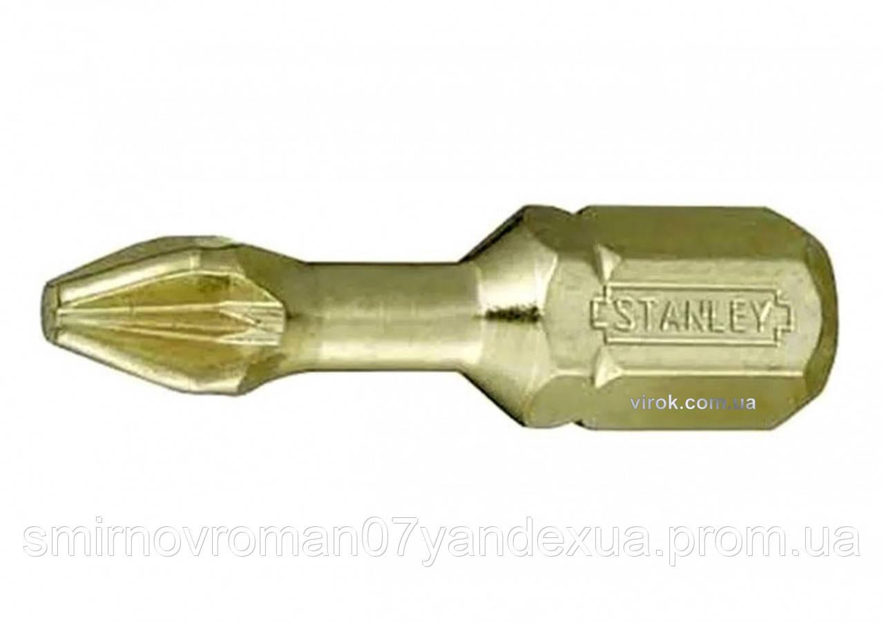 """Насадка отверточная STANLEY 1/4"""" крестовая PH2 x 25 мм 6 шт"""