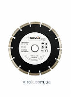 "Диск отрезной алмазный YATO ""SEGMENT"" 180 х 2.5 х 8 х 22.2 мм"