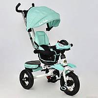 Дитячий триколісний велосипед - коляска Best Trike. Поворот сидіння, фара, ключ запалювання