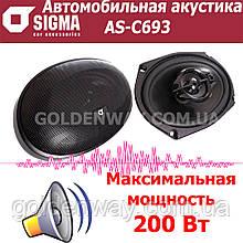 Автомобильная акустика Sigma AS-C693 (Овальные коаксиальные динамики комплект 2 штуки)