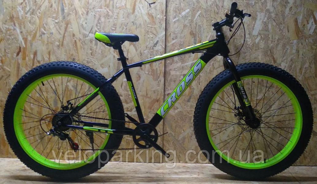 Велосипед внедорожник фэтбайк Cross Tank 26 (fatbike) 2019 All