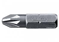 """Насадка отверточная STANLEY 1/4"""" крестовая PZ1 х 25 мм 25 шт"""