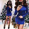 Женское силуэтное платье с люрексом в расцветках. БЛ-4-0119, фото 9