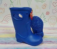 Детские резиновые сапоги непромокаемые голубые ec2da769c731e
