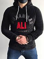 Мужская черная толстовка , люкс качество , европейский пошив , худи