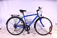 Городской велосипед 28 дюймов BUS MAN серый синий