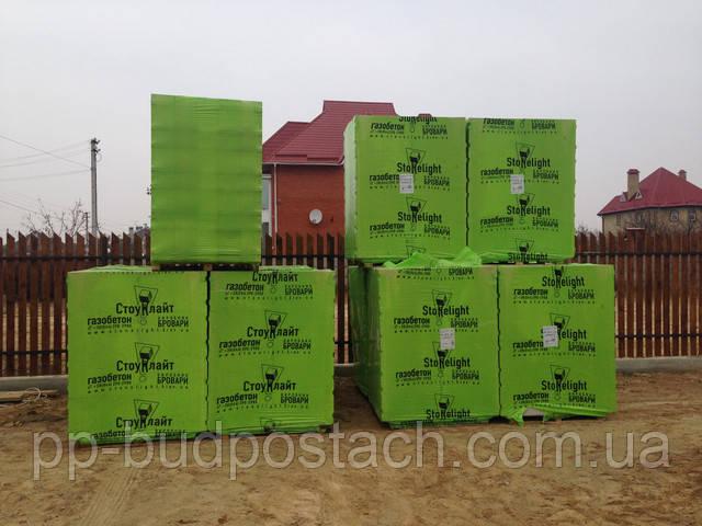 Газобетон газоблок Стоунлайт Бровары 300х200х600  D500 паз/гр