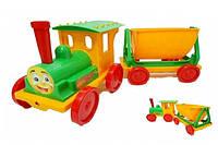 Игрушка поезд-конструктор  с грузовым вагоном