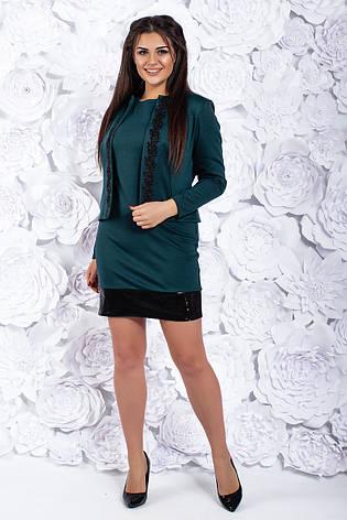 Костюм двойка, платье и пиджак, №104, бутылка, 42-46р., фото 2