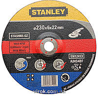 Круг шлифовальный по металлу STANLEY Ø=230х6.0х22 мм