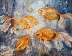 """Картина """"Золотые рыбки"""""""