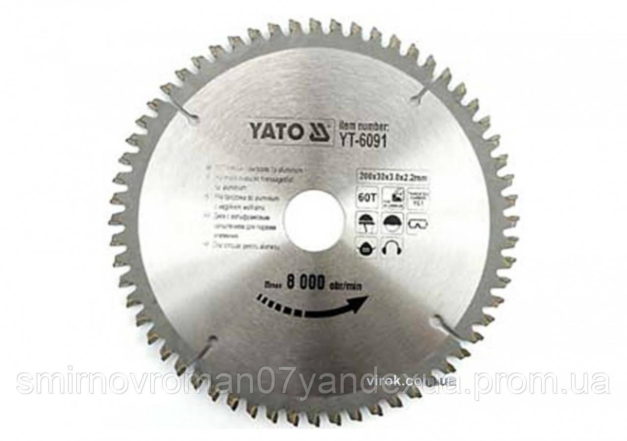 Диск пильный по алюминию YATO 350 х 30 х 3.2 x 2.5 мм 100 зубцов R.P.M до 4500 1/мин