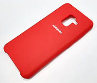 Чохол Silicone Case Cover Samsung Galaxy A8 A530f (2018) червоний