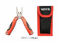 Плоскогубцы многофункциональные YATO с 9 сложенными инструментами