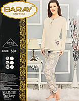 Женская пижама хлопок BARAY Турция размер 4XL(54-56) 604