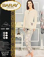 Женская пижама хлопок BARAY Турция размер 5XL(56-58) 604