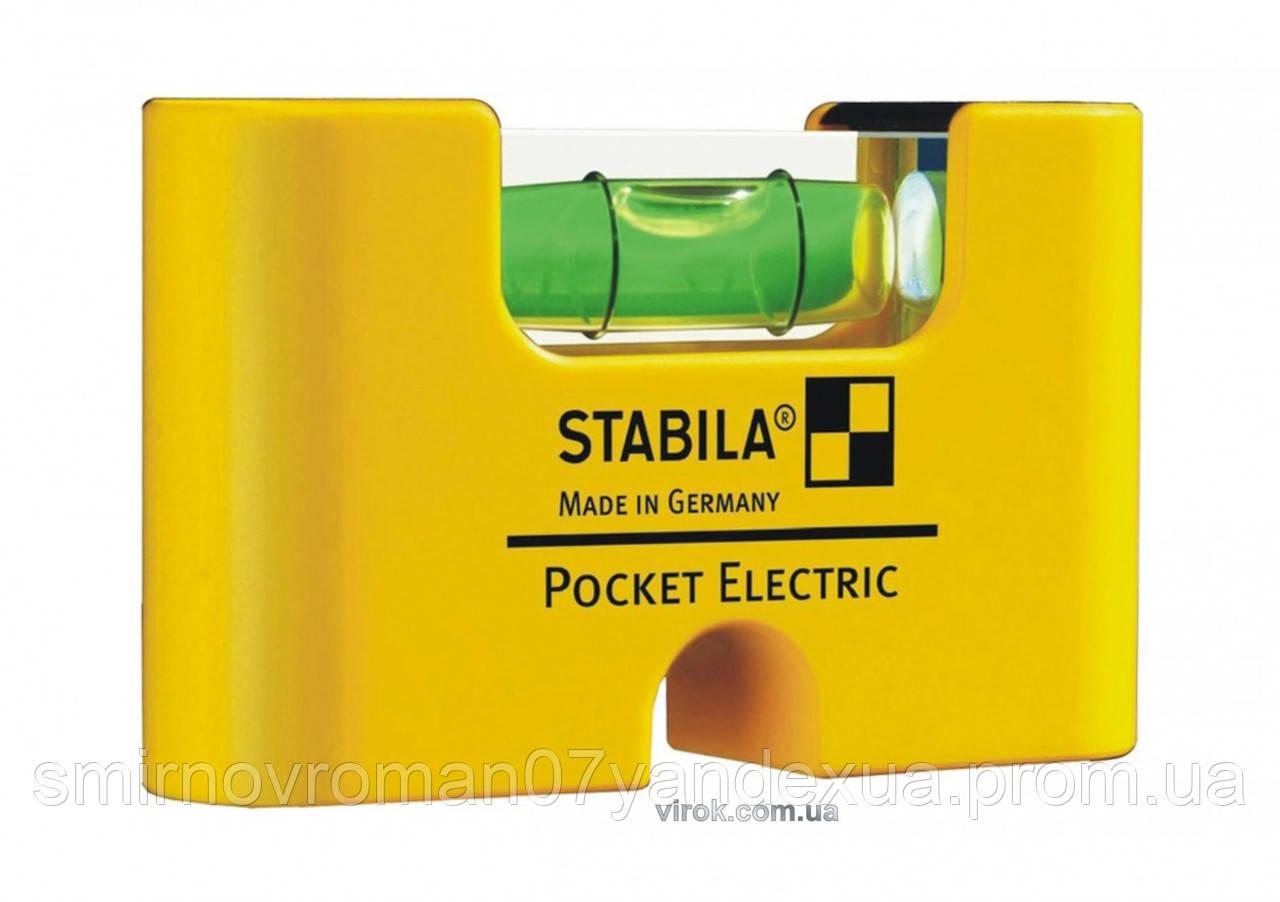 Уровень мини магнитный STABILA Pocket Electric 7 х 2 х 4 см