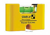 Уровень мини магнитный STABILA Pocket Electric 7 х 2 х 4 см, фото 1