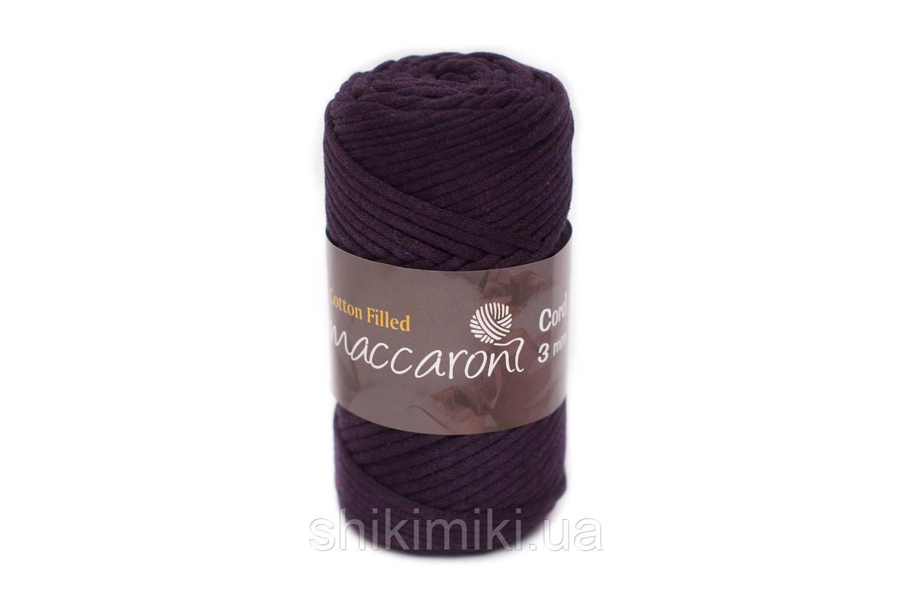 Трикотажный хлопковый шнур Cotton Filled 3 мм, цвет Баклажан