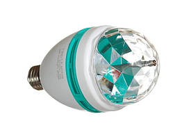 Светодиодная диско-лампа E27, 220V 3W Rotating RGB