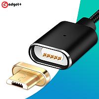 Магнитный зарядный кабель microUSB Elough E03, чёрный