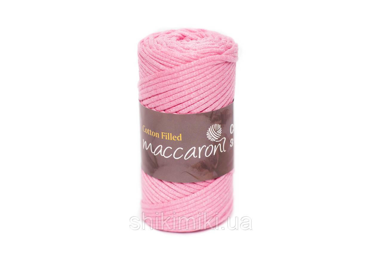 Трикотажный хлопковый шнур Cotton Filled 3 мм, цвет Розовый