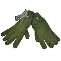 Перчатки вязаные с флисом COMBAT хаки