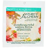 """Ароматерапевтические травяные минеральные ванны, """"Спокойные Моря"""", пробник, ~30 мл Nature's Alchemy"""