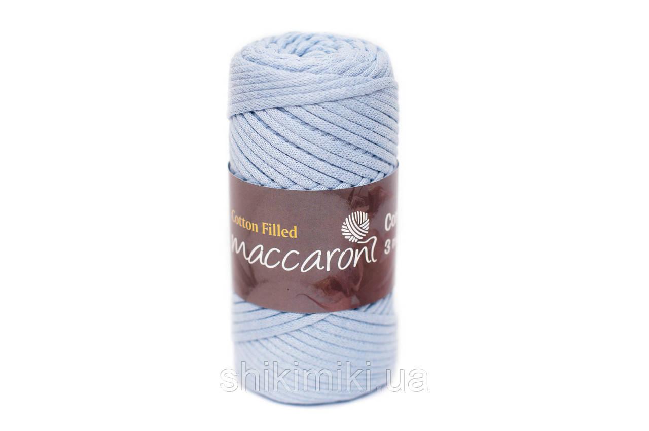 Трикотажный хлопковый шнур Cotton Filled 3 мм, цвет Голубой