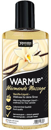 Съедобное массажное масло для оральных ласк WARMup Ваниль, 150 мл , фото 2