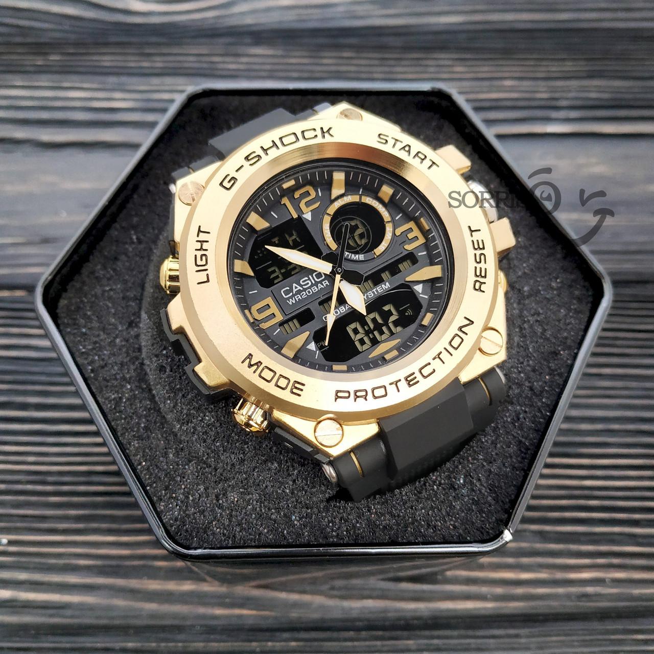 Мужские наручные часы  Casio G-Shock  GLG-1003 Золотой Копия