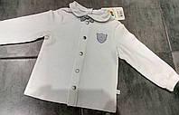 Белая рубашка для мальчика на 1 год тм Smil р-р 80