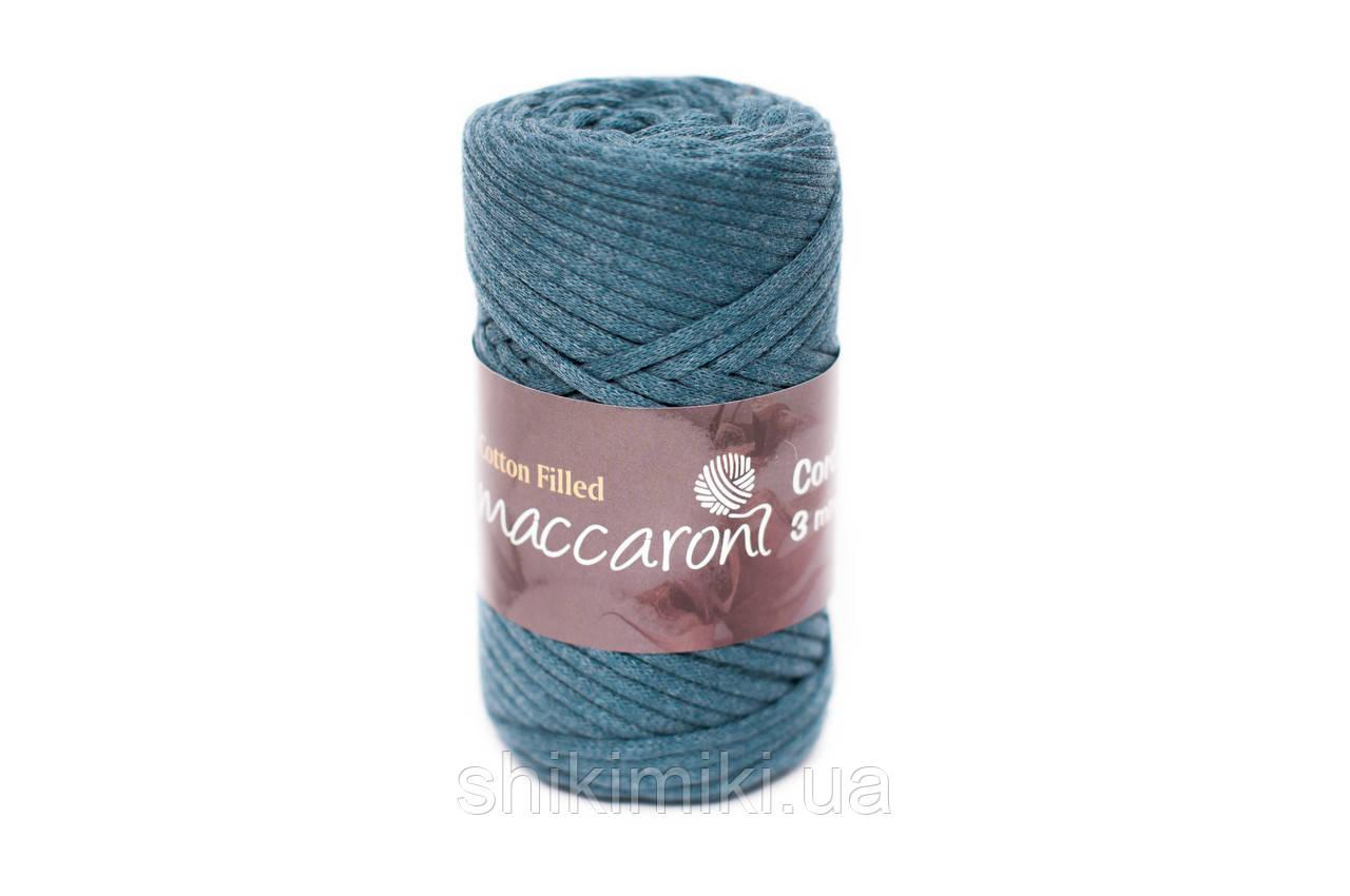купить трикотажный хлопковый шнур Cotton Filled 3 мм цвет темно