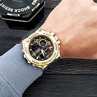 Мужские наручные часы  Casio G-Shock  GLG-1003 Золотой Копия, фото 2