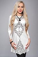 Женское платье с перфорацией Angelina белого цвета