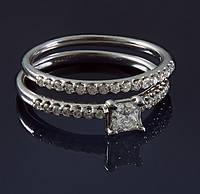 Женское кольцо из белого золота с бриллиантами С37Л1№26