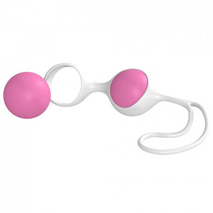 Вагинальные шарики Discretion Love Balls Pink White Minx, 3,5 см , фото 2