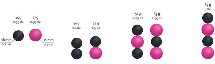 Потужний магнітний тренажер Кегеля Geisha balls Magnetic, 1,8 - 2,2 см, фото 2