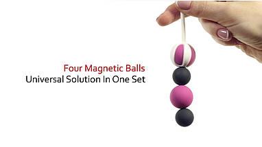 Потужний магнітний тренажер Кегеля Geisha balls Magnetic, 1,8 - 2,2 см, фото 3