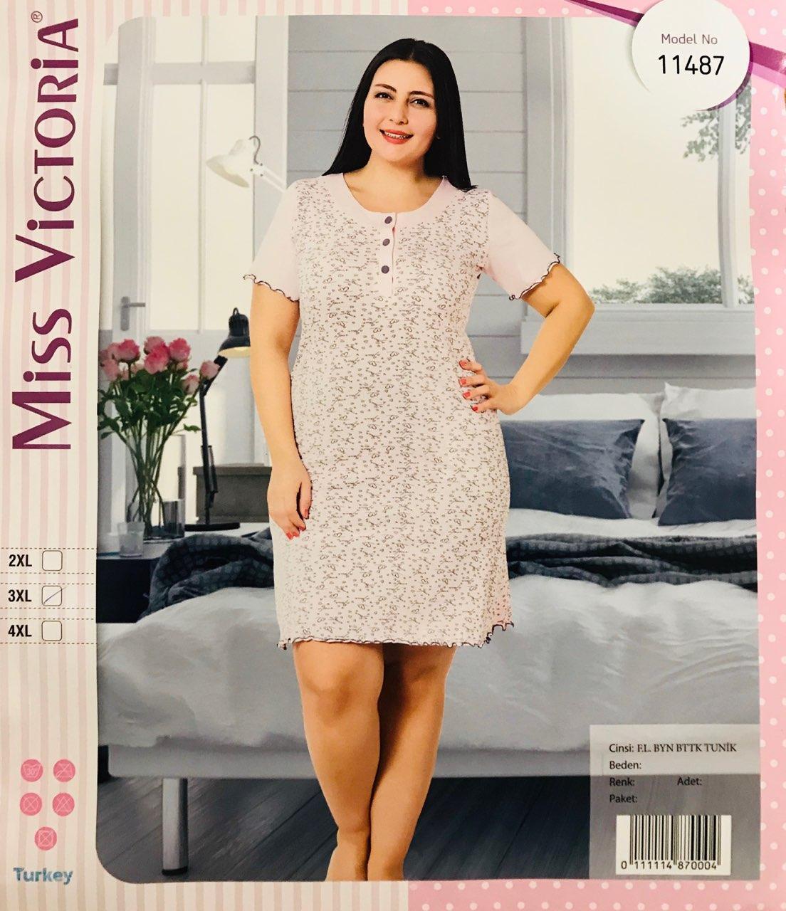 Женская пижама хлопок Miss Victoria Турция размер 2XL(50-52) 11487